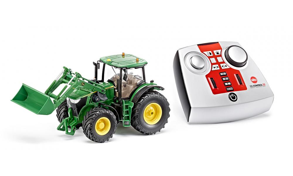 John Deere 7r With Front Loader And Remote Control